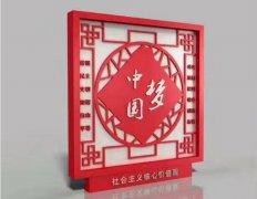 中国梦价值观标牌